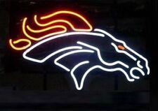 "New Denver Broncos Neon Light Sign 17""x14"" Beer Cave Gift Lamp Bar Glass Artwork"