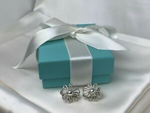 Tiffany & Co. Paloma Picasso Sterling Silver 925 Large Daisy Flower Stud Earring