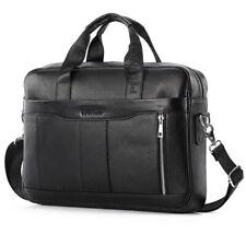 Leather Business Messenger Bag Laptop Briefcase Handbag for Men Crossbody Pack