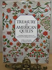 TREASURY OF AMERICAN QUILTS WITH PATTERNS INSTRUCTIONS AND 185 PHOTOGRAPHS