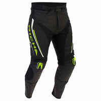 RICHA MONZA BLACK FLUO MENS LEATHER MOTORCYCLE SPORTS TOURING MOTORBIKE TROUSERS