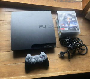 Black Playstation 3 Slim Console With Accessories