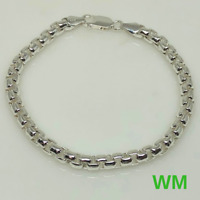 WM .925 Sterling Silver Made In ITALY Bracelet (21.3g) 8""