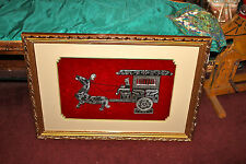 Chinese Stone Carving Man Horse Carriage-Framed-Engraved Details-Asian-Large