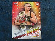 2019 Topps WWE Road To Wrestlemania Rowdy Ronda Rousey Spotlight Insert Card #8 Verzamelkaarten, ruilkaarten