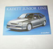 Prospekt/folleto irmscher Kadett junior Line