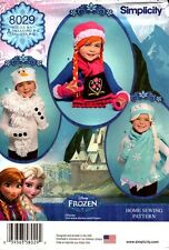 Simplicity Sewing Pattern 8029 Childs Hat, Mittens and Scarves Frozen S-M-L NEW