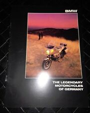 BMW Motorcycle 8 page fold out Book K 100LT RT RS S T K75C R80RT R80 R65 #63017d