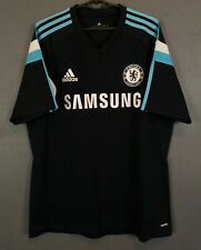 MEN'S ADIDAS FC CHELSEA 2010/2011 TRAINING FOOTBALL SOCCER SHIRT JERSEY SIZE L