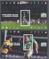 Ireland-Rugby World Cup set of 2 sheets mnh-2007