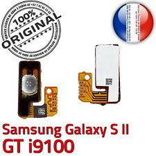 ORIGINAL Samsung Galaxy S2 GT i9100 Nappe Bouton Power à souder Contacts Dorés