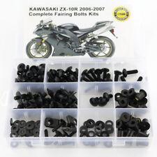 For Kawasaki ZX-10R 2006 2007 ZX-10R Fairing Bolts Screws Fasteners Kit Black