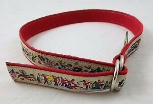 Men's The Belted Cow D-Ring Web Ribbon Belt Woven Canvas Road Race Marathon Red