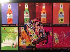 3518/3761 BACARDI BREEZER ART Beppe Giacobbe Velasco 9 Cartoline Pubblicita'