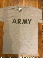 US-Army-Short-Sleeve-Sportshirt-Kurzarm-tshirt-Pt Sport Grau ORGINAL! Reflektor