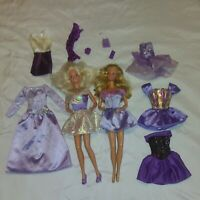 Vintage twist and turn Barbie Dolls Plus Clothing Lot 1966-1968 Lavender themed