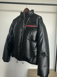 Men's PRADA Black 2020 Tech down coat Zip jacket size XL 52
