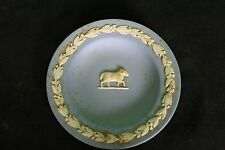 Vintage Wedgewood Collectible Plate England Ram Display Blue White