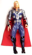 """Marvel Avenger Talking Action Figure """"Thor"""" 2012 With Red Cape"""