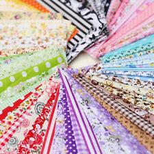 100X Assorted Fat Quarters Bundle Quilt Quilting Cotton Fabric DIY Sewing