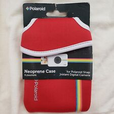 Vintage Polaroid Snap Camera Neoprene Case Red New