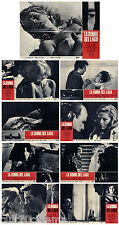 LA DONNA DEL LAGO SET FOTOBUSTA COMPLETO 8+1 PZ. VIRNA LISI GIALLO ITALIA 1965