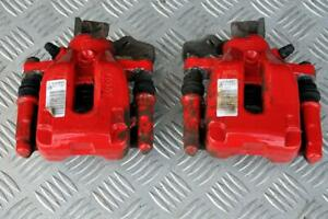 Peugeot 208 GTI 1.6 turbo 200BHP rear red brake calipers pair