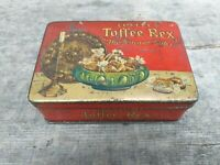 c1930's Vintage Collectable Lovell's Manchester Toffee Small Tin - Hinged Lid