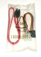 Set of Sata Data Cable & 4-pin IDE Molex Male to 15-pin Sata Female Cables