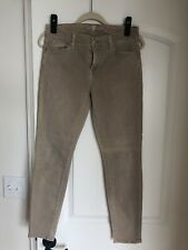 Seven 7 For All Mankind THE ANKLE SKINNY Mid Rise Stretch Khaki Jeans 28