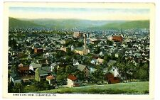 Clearfield PA - BIRDSEYE VIEW OF CITY - Postcard
