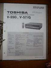 MANUAL DE SERVICIO TOSHIBA v-55g, v-57/G Video REC , original