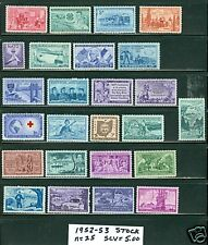 US 1952-53 commemorative year sets  NH Red Cross