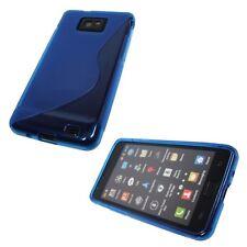 Pellicola + Custodia cover WAVE BLU per Samsung I9100 Galaxy S II S2 TPU
