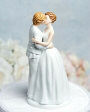 Gay Lesbian Romance Kissing Bride Female Couple Wedding Cake Topper Figurines