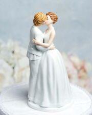 Gay Lesbian Romance Kissing Bride Female Couple Wedding Cake Topper Figurines