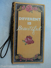 bb DIFFERENT IS BEAUTIFUL BRAVE GIRL unlined 72 page kraft JOURNAL blank book