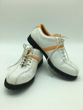 Callaway Golf Shoes Cg Sport Women w Orang Trim Spikes Upper Leath Sz 6.5 Eur 37