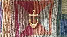 Grateful Head Inspired Gold Tone Ship of Fools Lost Sailor Anchor Skull Pin