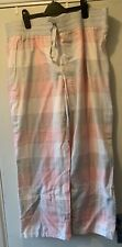 Size 18 Pink An Grey Check Brushed Cotton Pjs By TU Nwt