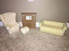 American Girl Angelina Ballerina Furniture Living Room Couch Chair Piano Set Lot