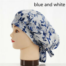 Lady Sleep Caps 100% Pure Silk Hair Care Wrap Strappy Night Hat Soft Bonnet Chic