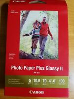 Canon Photo Paper Plus Glossy II PP301 4 x 6 100 Sheets Inkjet Printer