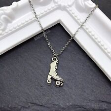 Roller Skate Necklace - stainless steel chain - retro necklace old school gift