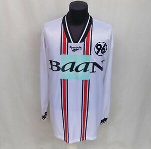 Hannover 96 1998/1999 #15 Vukelic Third Jersey Reebok Long Sleeve Shirt Size 2XL