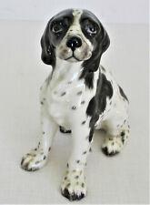 Gort Black & White English Setter Dog Figurine Bone China