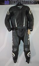 "Rev'it Track Road Two Piece Motorcycle Leather Suit - EU 50 / UK 40 / 32"" w"