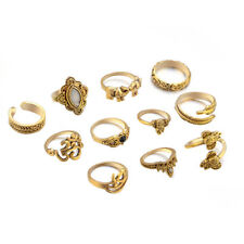 11Pcs/Set Bohemian Vintage Women Elephants Finger Rings Punk Stacking Ring Gift