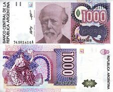 ARGENTINA 1000 Australes Banknote World Paper Money UNC Currency Pick p329a Bill