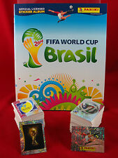 Panini WM 2014 Satz komplett + Softcover Album = alle Sticker + Leeralbum WC 14